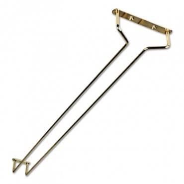 "Glass Hanger, Brass 16"" W, 2/pack"