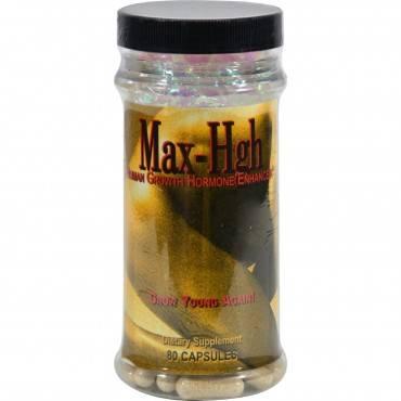 Maximum International Max-High Human Growth Hormone Enhancer - 80 Capsules