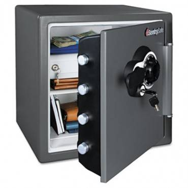 Combination Water/fire Resistant Safe, 1.23 Ft3, 16 3/8 X 19 3/8 X 17 7/8, Gray