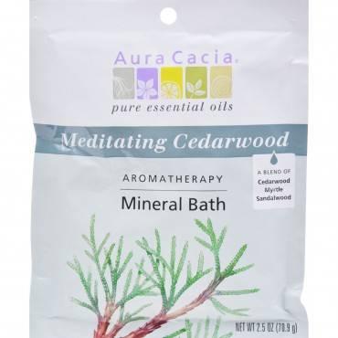 Aura Cacia Aromatherapy Mineral Bath Meditation - 2.5 oz - Case of 6