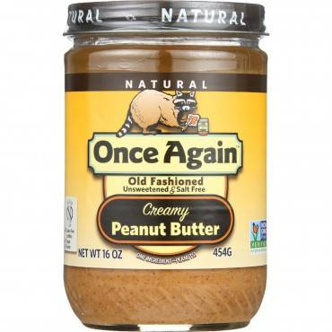Once Again Peanut Butter - Old Fashioned - Creamy - No Salt - 16 oz - case of 12