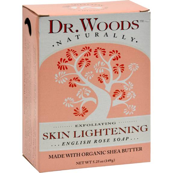Dr Woods Bar Soap Skin Lightening English Rose 5 25 Oz