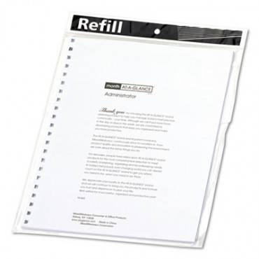 Monthly Planner Refill, 9 X 11, White, 2020