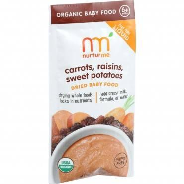 Nurturme Organic NurturMeals Blended Meals - Infant and Toddler - Dried - Carrots Raisins Sweet Pota