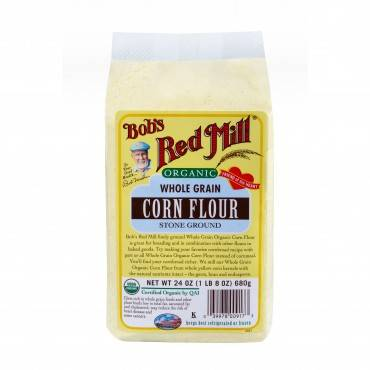 Bob's Red Mill Organic Corn Flour - 24 oz - Case of 4