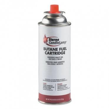 Butane Cartridge, Liquid, Can, 8oz, 12 Cans Per Carton