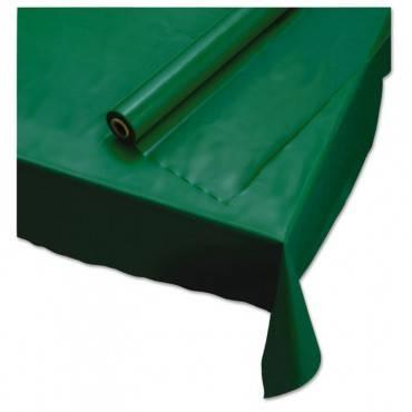 "Plastic Roll Tablecover, 40"" X 100 Ft, Hunter Green"