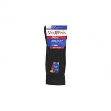 MediPeds Diabetic Crew Sock Large, Black (3 Pairs/Pack) Part No. B8372 Qty  Per Package