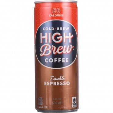 High Brew Coffee Coffee - Ready to Drink - Double Espresso - 8 oz - case of 12