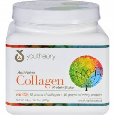 Youtheory Protein Shake - Collagen - Anti-Aging - Vanilla - 24 oz