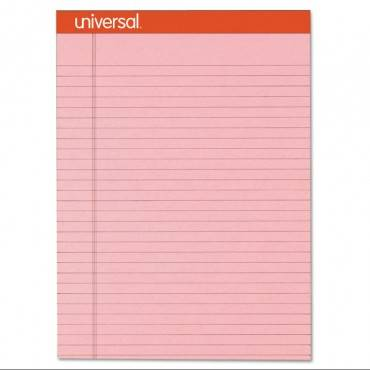 Fashion Colored Perforated Note Pads, 8 1/2 X 11 3/4, Legal, Pink, 50 Shts, 6/pk