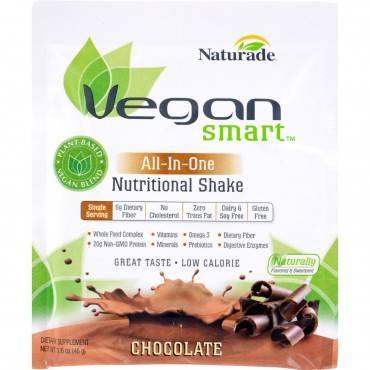 Naturade VeganSmart All-In-One Nutritional Shake - Chocolate - 1.62 oz - Case of 12