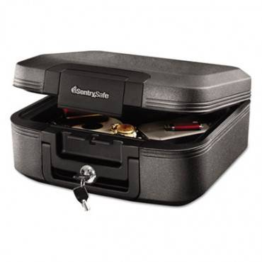 Waterproof Fire-Resistant Chest, .28 Ft3, 15 1/2 X 14 3/8 X 6 5/8, Charcoal Gray