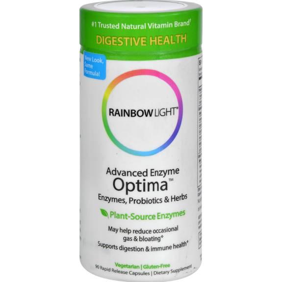 Rainbow Light Advanced Enzyme Optima 90 Vegetarian Capsules