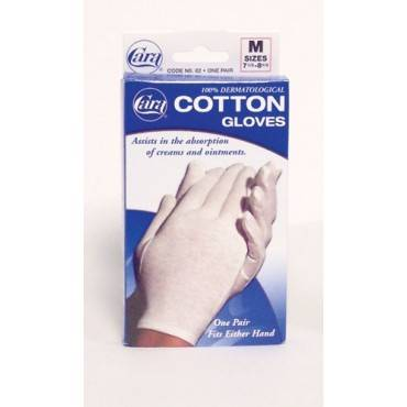 Cara Inorated Cotton Gloves - White Medium (Pair) Fits 7-1/2  - 8-1/2 Part No.82