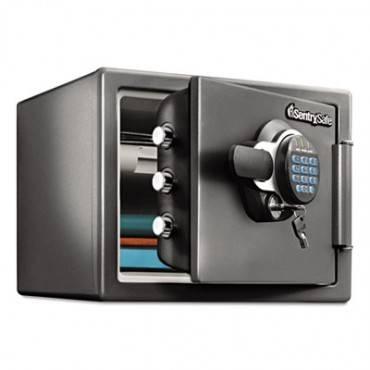 Fire-Safe 0.8 Cu. Ft. Digital With Key, 16 3/8 X 19 3/8 X 13 3/4, Gunmetal Gray
