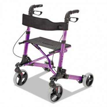 "Gateway Aluminum Rollator, Purple, 31""-36""h, 300 Lb Capacity"