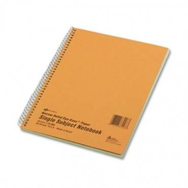 Subject Wirebound Notebook, Narrow/margin Rule, 10 X 8, Green, 80 Sheets