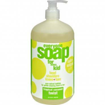 EO Products Everyone Soap for Kids - Tropical Coconut Twist - 32 oz