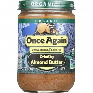 Once Again Almond Butter - Organic - Crunchy - 16 oz - case of 12