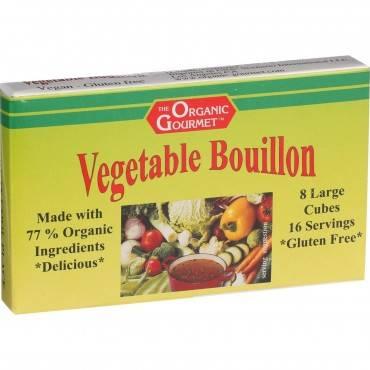 Organic Gourmet Vegetable Bouillon Cubes - 3.1 oz - Case of 12