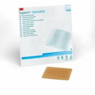 """Tegaderm Hydrocolloid Dressing with Outer Clear Adhesive, 4"""" x 4"""" Part No. 90002 Qty  Per Box"""