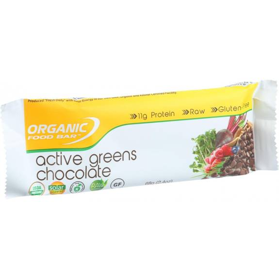 Organic food bar active greens chocolate covered 2 4 for Organic food bar