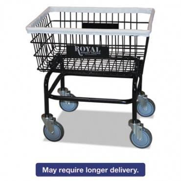 Small Wire Laundry Cart, 21 X 26 X 26 1/2, 200 Lbs. Capacity, Black