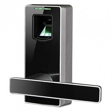 """Md1000 Biometric Door Lock, 6"""" X 8"""" X 6"""", Black"""