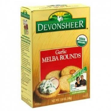 Devonsheer Organic Garlic Melba Rounds - Case of 12 - 5.25 oz.