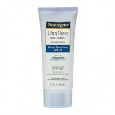 Neutrogena Ultra Sheer Dry-Touch Sunscreen SPF 70, 3 oz. Part No. 68770 Qty 1