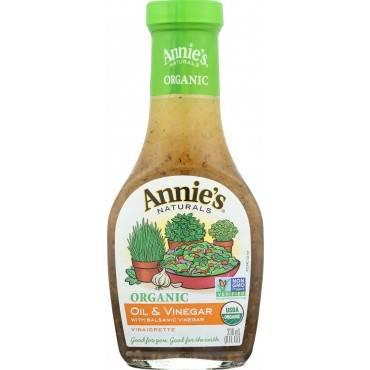 Annie's Naturals Vinaigrette Organic Oil and Vinegar - Case of 6 - 8 fl oz.
