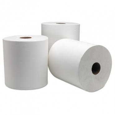 "Dublnature Universal Roll Towel, 8"" X 800 Ft, White, 6/carton"