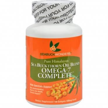 Seabuck Wonders Sea Buckthorn Omega 7 Complete - 500 mg - 60 Softgels