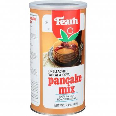 Fearns Soya Food Pancake Mix - Unbleached Wheat and Soya - 2 lb