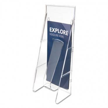 Stand Tall Literature Holder, 4 9/16w X 3 1/4d X 11 7/8h, Clear