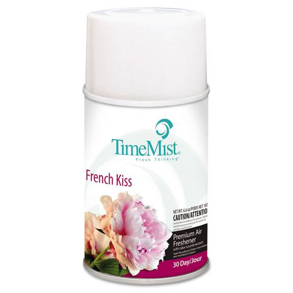 Premium Metered Air Freshener Refill, French Kiss, 6.6 Oz Aerosol, 12/carton