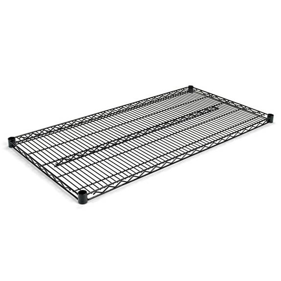 Industrial Wire Shelving Extra Wire Shelves, 48w X 24d, Black, 2 Shelves/carton