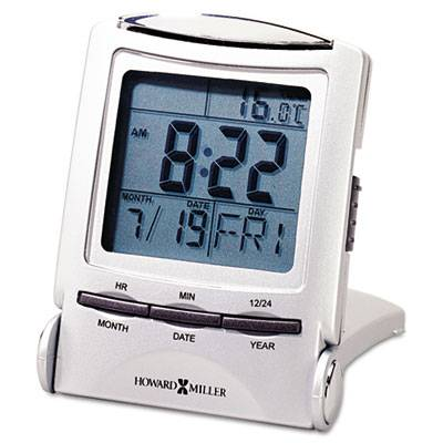 """Distant Time Traveler Alarm Clock, 2-1/4"""", Silver, 1 Aaa (incl)"""
