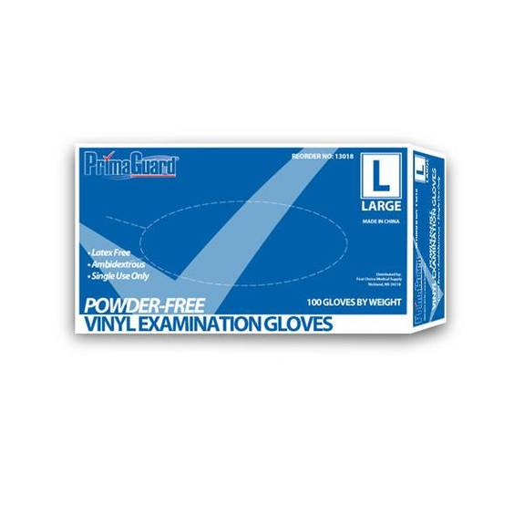 PRIMAGUARD Vinyl Exam Glove Model: 13018