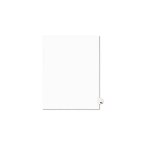 Avery-Style Legal Exhibit Side Tab Divider, Title: 24, Letter, White, 25/pack