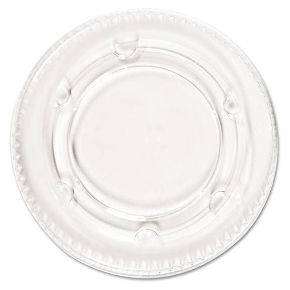 Crystal-clear Portion Cup Lids, Fits 1.5-2.5oz Cups, 2400/carton