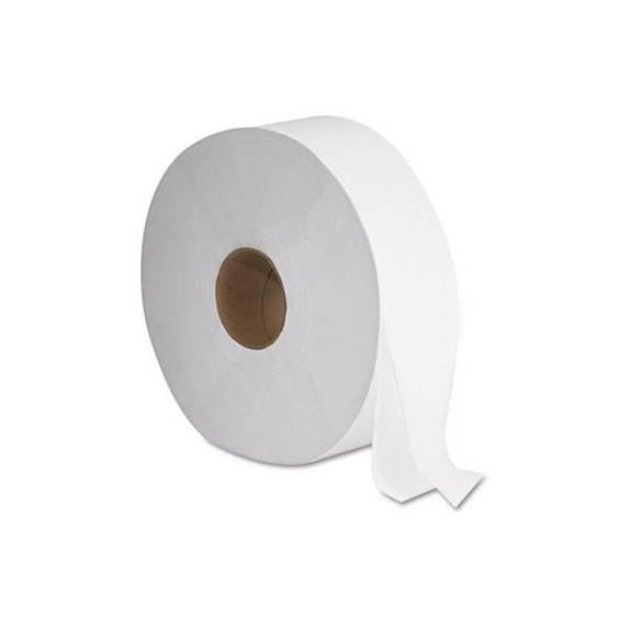 """Jrt Jumbo Bath Tissue, 2-Ply, White, 12"""" Diameter"""