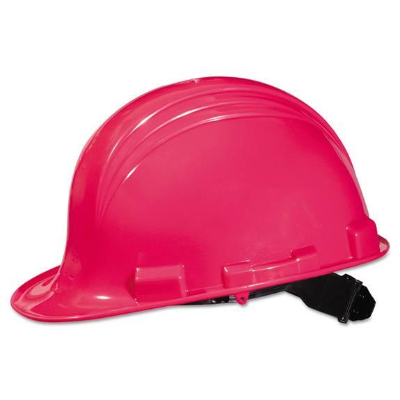 A-Safe Peak Hard Hat, Hot Pink, 4-Point Suspension (1 EA)