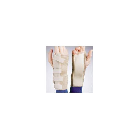 Elastic Cock-up Wrist Brace Right Beige Md