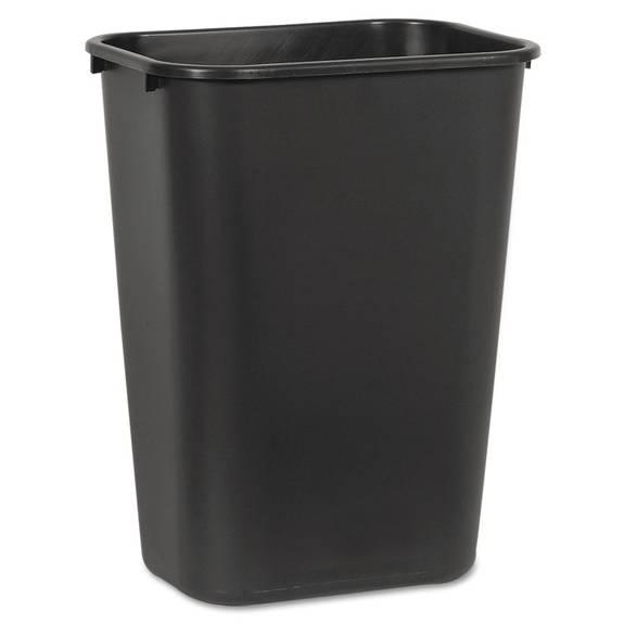 Soft-Sided Wastebasket, 41 Qt, Plastic, Black