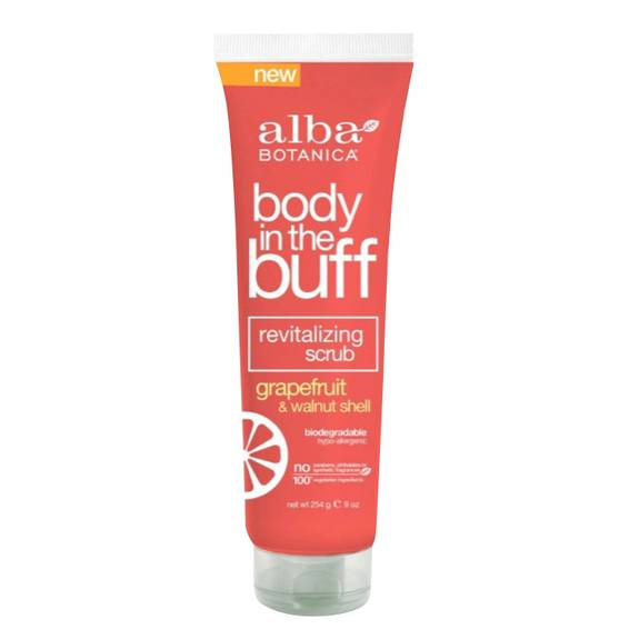 Alba Botanica - Body In The Buff Scrub - Grapefruit And Walnut Shell - 9 Oz.