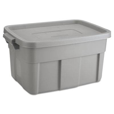 Roughneck Storage Box, 14 Gal, Steel Gray