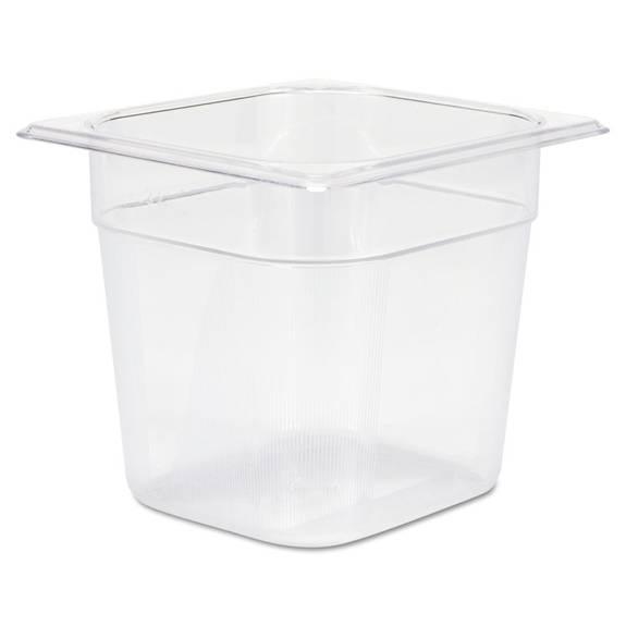 Cold Food Pans, 2 1/2qt, 6 3/8w X 6 7/8d X 6h, Clear