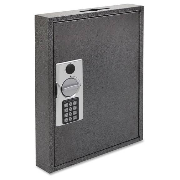 Hercules Key Cabinets E-Lock, 60-Key, Steel, Silver Vein